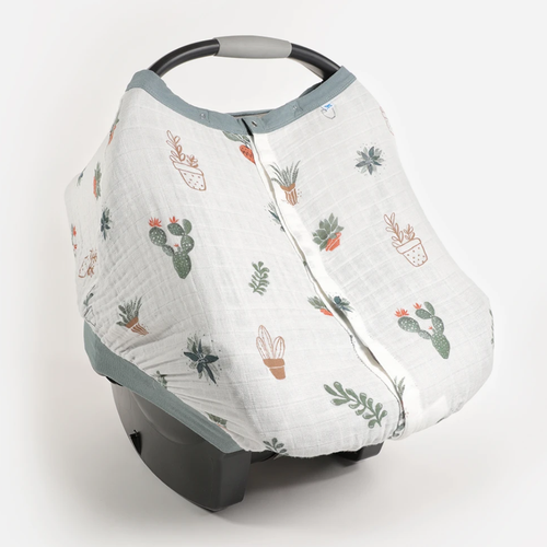 Cotton Muslin Car Seat Canopy, Prickle Pots