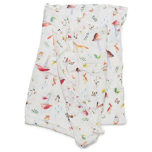 Luxe Muslin Swaddle, Woodland Gnome