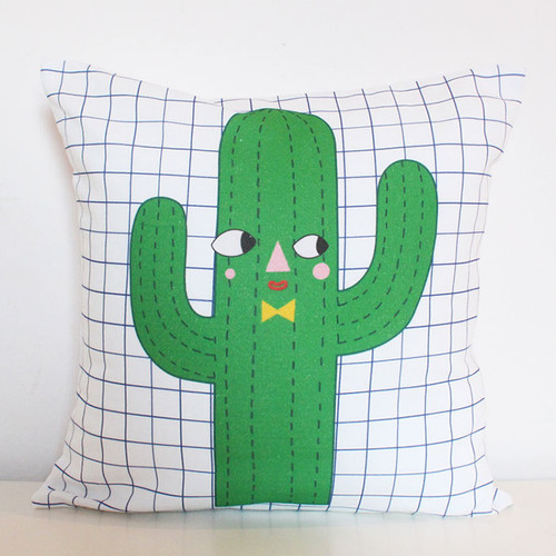 Cactus Boy Cushion Cover