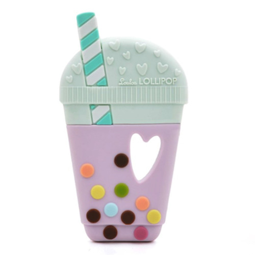 Single Bubble Tea Silicone Teether, Lilac