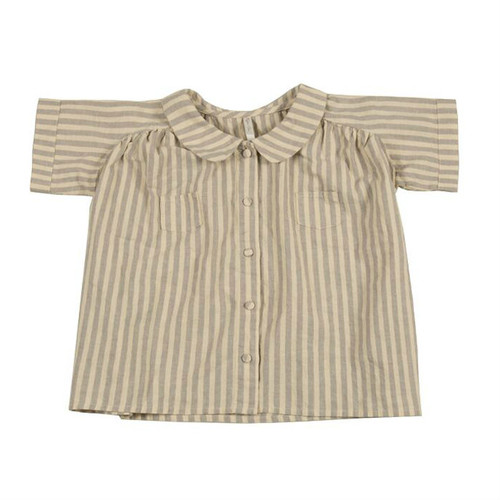 Rylee & Cru Stripe Collared Blouse