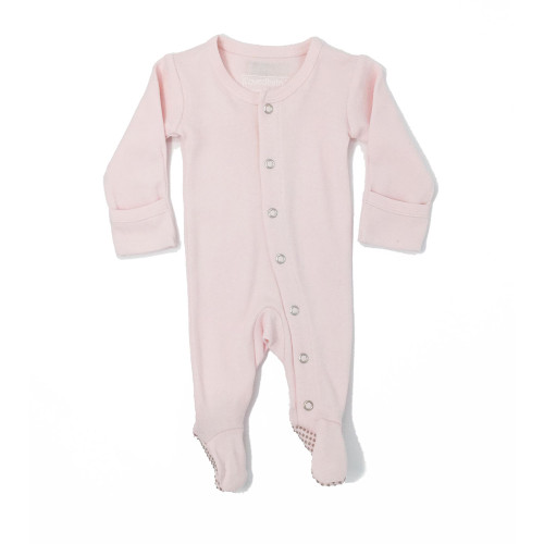 Organic Footed Romper, Blush