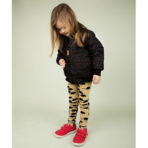 Mini Rodini Mouse Leggings, Beige