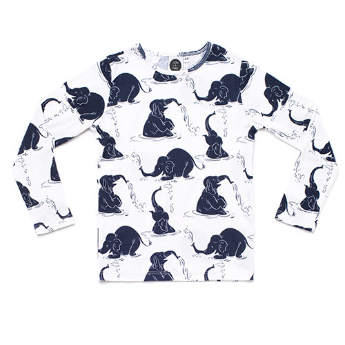 Izzy & Ferd Elephants Long Sleeve Tee