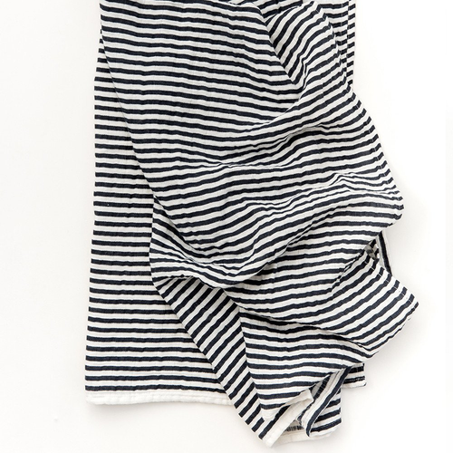 Black and White Stripe Muslin Swaddle