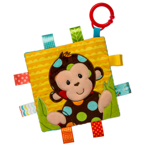 Taggies Crinkle Stroller Toy, Dazzle Dots Monkey