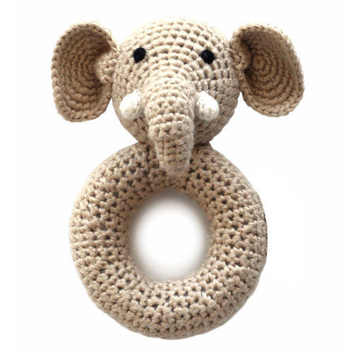 Elephant Crochet Ring Rattle