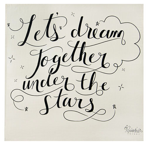 'Let's dream together under the stars' Organic Swaddle Scarf™