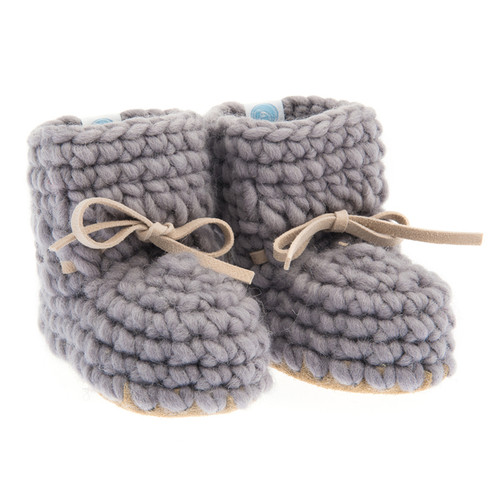 Sweater Moccasins, Grey