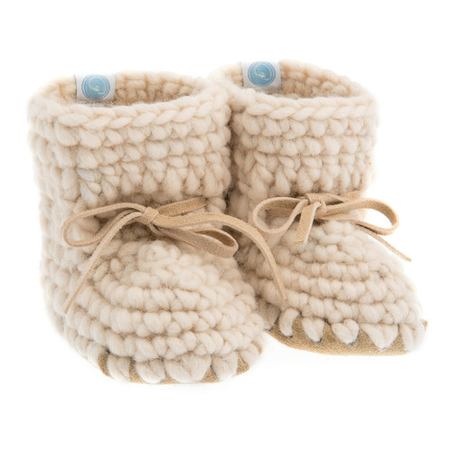 Sweater Moccasins, Ivory
