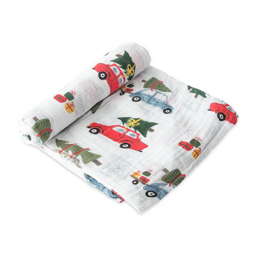 Limited Edition Muslin Swaddle, Christmas Tree