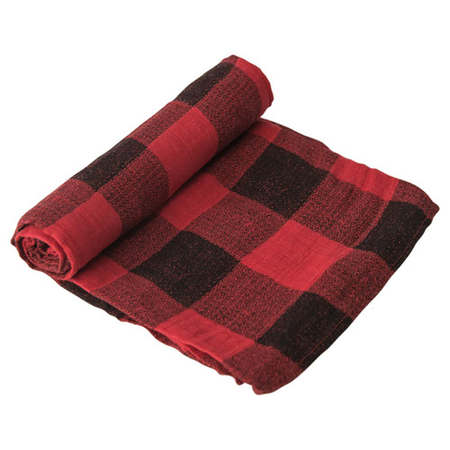 Muslin Swaddle, Buffalo Plaid