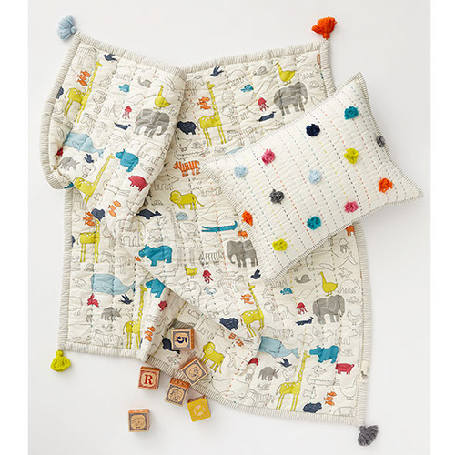 Noah's Ark Quilted Play Blanket