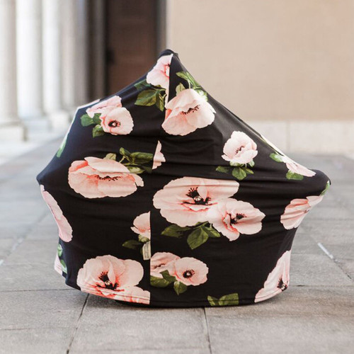Covered Goods Multi Use Car Seat Cover, Poppies