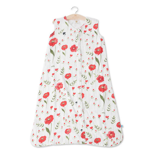 Cotton Muslin Sleep Bag, Summer Poppy