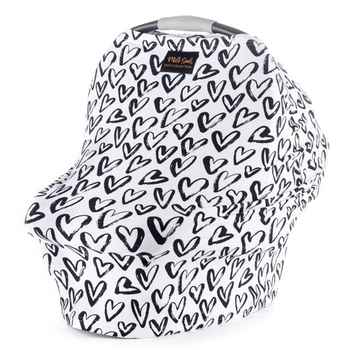 Luxe Milk Snob Car Seat Cover, Hearts