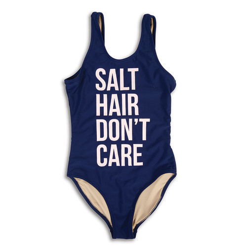 Salt Hair Scoop Swimsuit, Navy