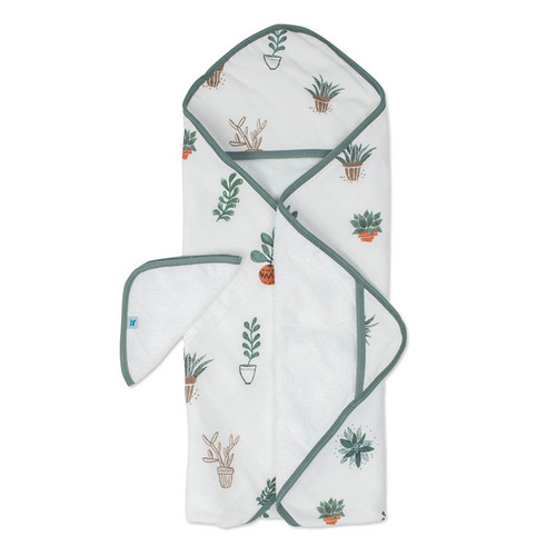 Hooded Towel Set, Prickle Pots