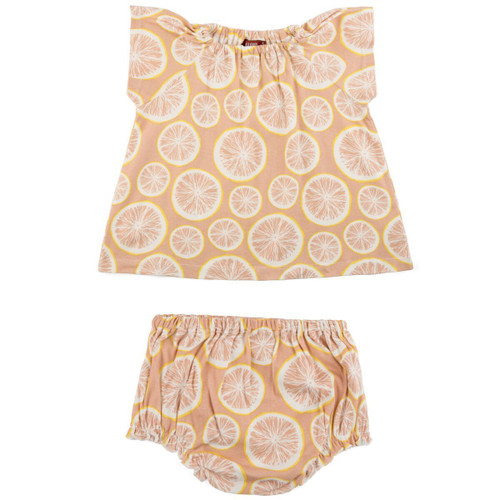 Organic Dress & Bloomer Set, Grapefruit