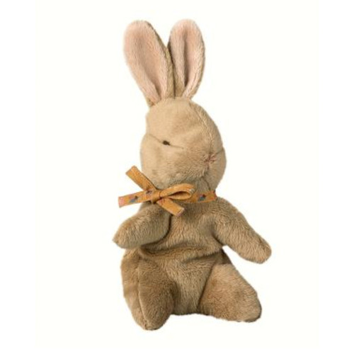 Baby Bunny, Brown with Ochre Ribbon