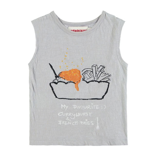Organic Cotton Muscle Tee, Currywurst & Fries