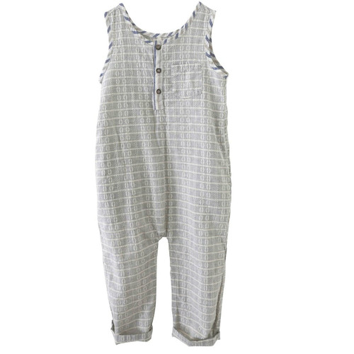 Brooks Block Romper, Grey