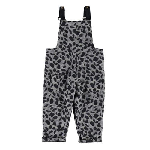 Dungarees, Grey Leopard