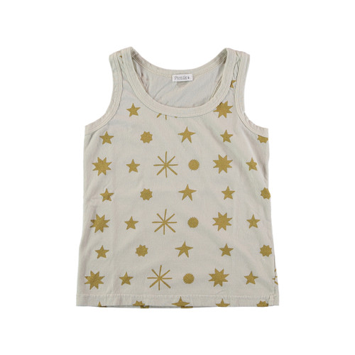 Tank Top, Cream/Gold Stars