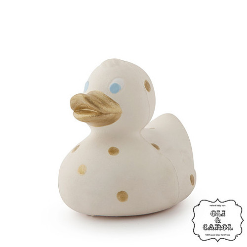 Spotty Duck, White/Gold