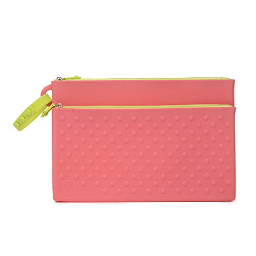 Chewbeads Silicone Wipes Clutch Case, Pink