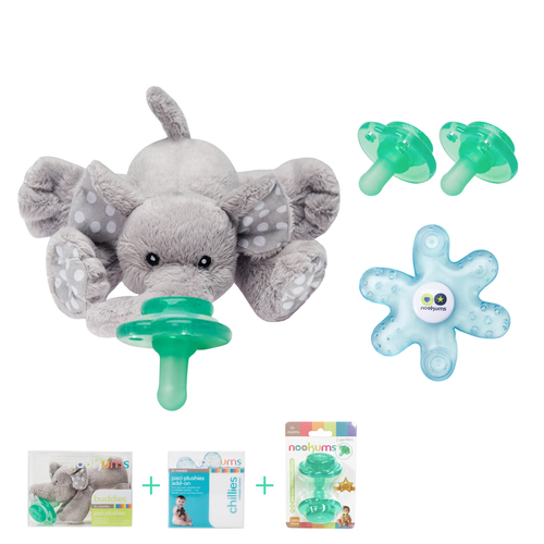 Elephant Buddies Pacifier Gift Set