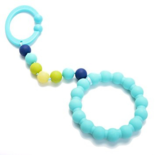 Chewbeads® Baby Gramercy Teether Stroller Toy, Turquoise