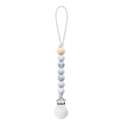 Charley Cutie Pacifier Clip, Marble