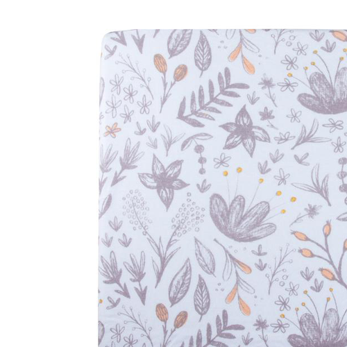 Organic Cotton Muslin Changing Pad, Vintage Blossom