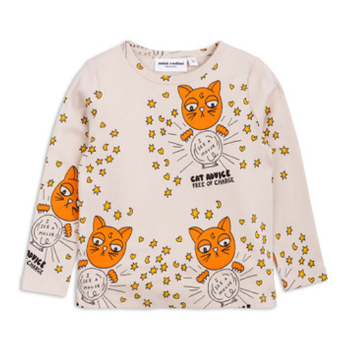 Mini Rodini Cat Advice Long Sleeve Tee