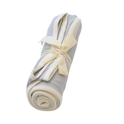 Bamboo Swaddle, Storm/Cloud Trim