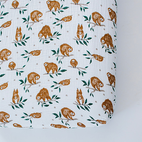 Sloth Crib Sheet