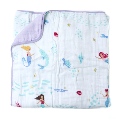 Luxe Muslin Quilt, Mermaid