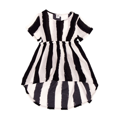 Babydoll Dress, Black Stripes