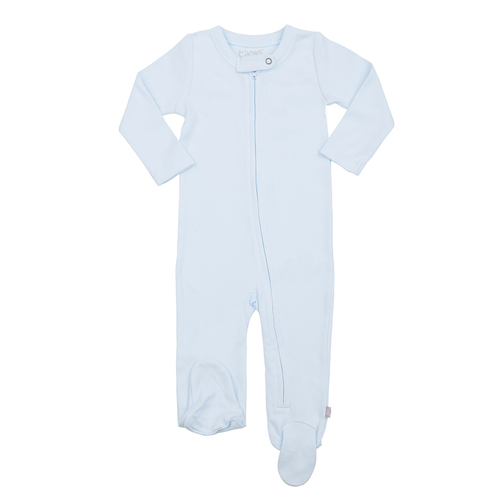e8f856fdcb66 Organic Cotton Zip Footed Romper