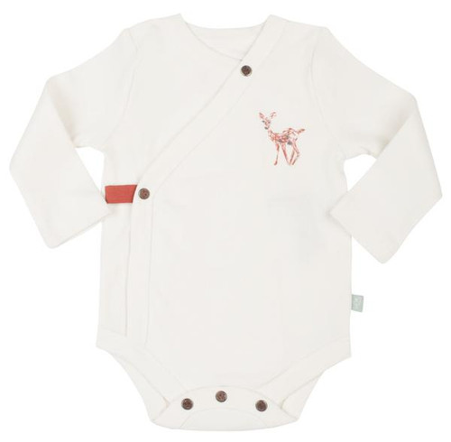 Organic Cotton Fawn Long Sleeve Bodysuit
