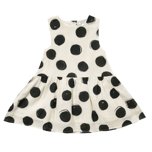 Rylee & Cru Black Dots Button Back Dress