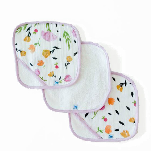Washcloth Set, Berry & Bloom