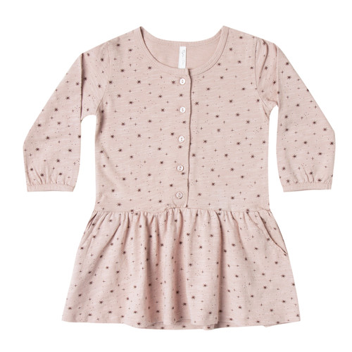 Rylee & Cru Mini Stars Button Up Jersey Dress