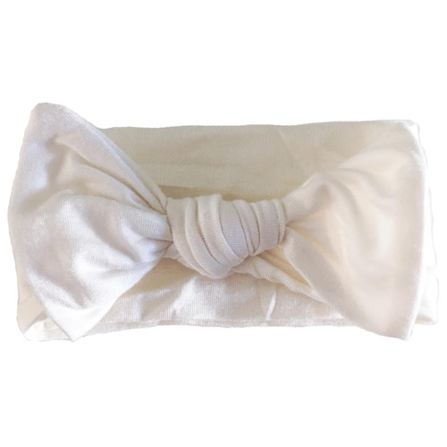 Knot Bow, Cloud White