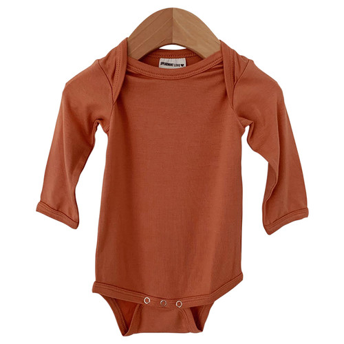 Long Sleeve Bodysuit, Rust