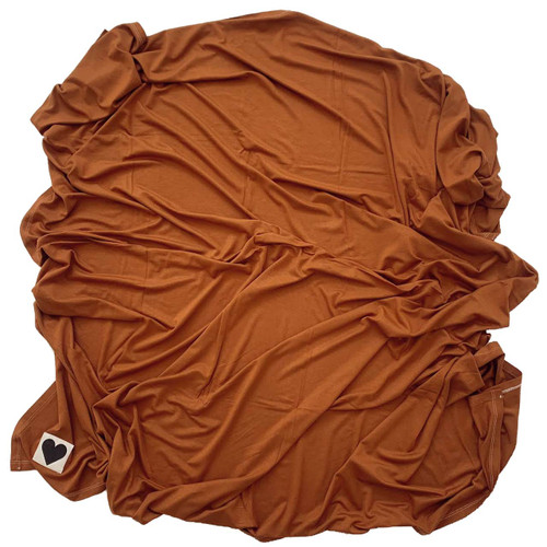 Jersey Stretch Swaddle, Rust