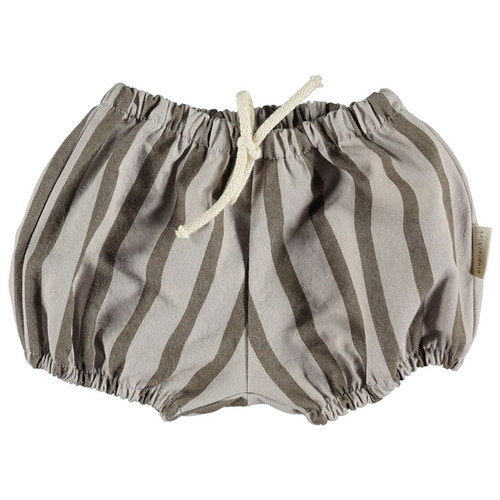 Baby Shorts, Grey Stripes