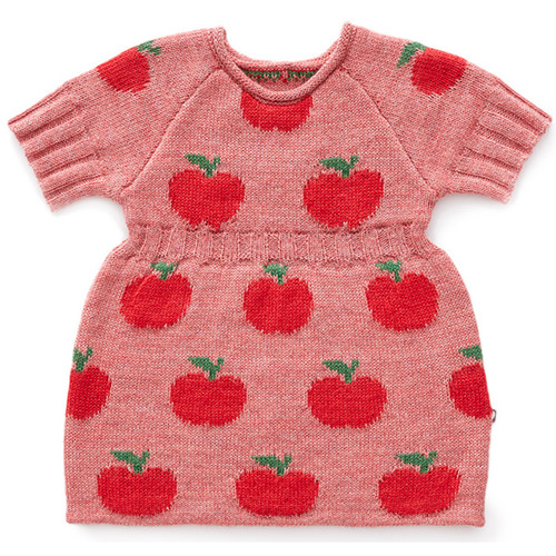 Oeuf Apple Dress, Rose/Red
