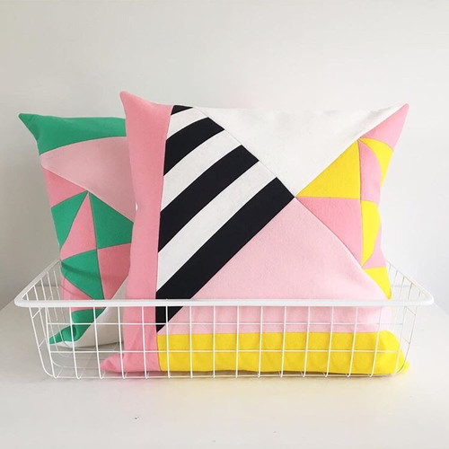 How About Frankie Cushion Cover, Pink/Yellow